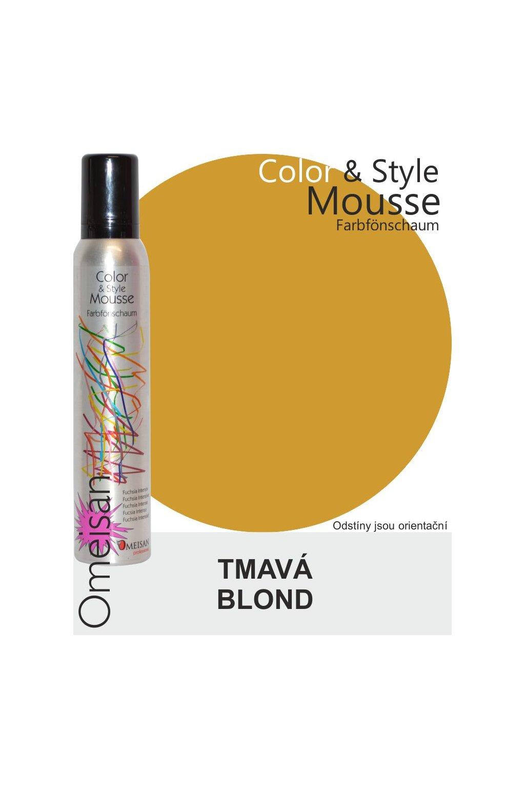 6446 omeisan barevna pena tuzici dunkelblond 200ml tmava blond