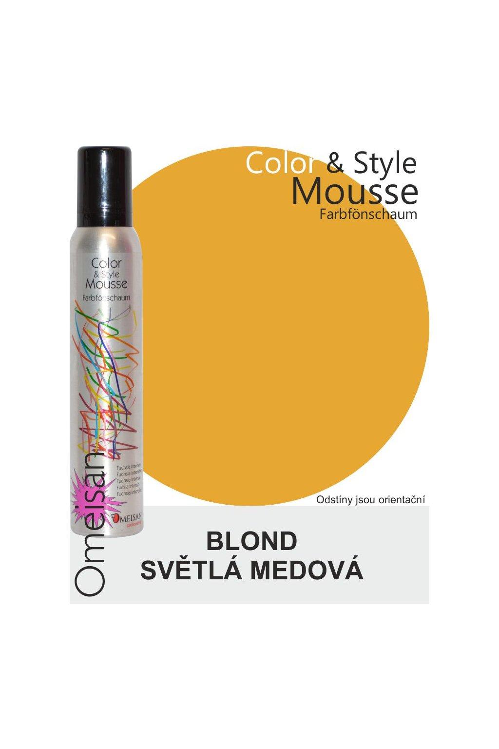 6437 omeisan barevna pena tuzici helles honigblond 200ml blond svetla medova