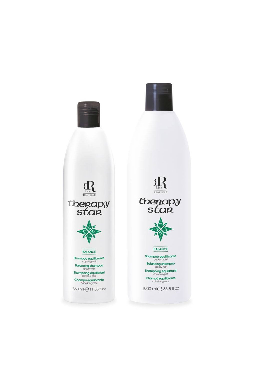 RR Line BALANCE šampon pro mastnou pokožku a mastné vlasy (Obsah 350 ml)