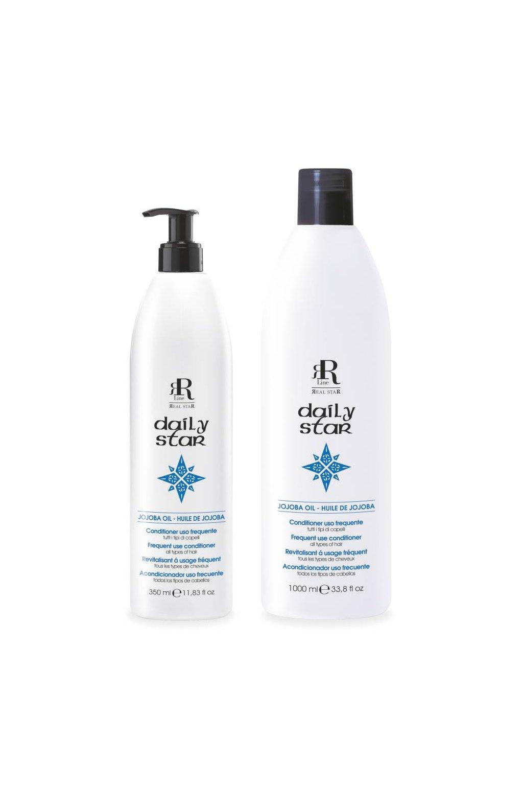 RR Line DAILY STAR Kondicionér pro všechny typy vlasů a časté použití s jojobovým olejem (Obsah 350 ml)