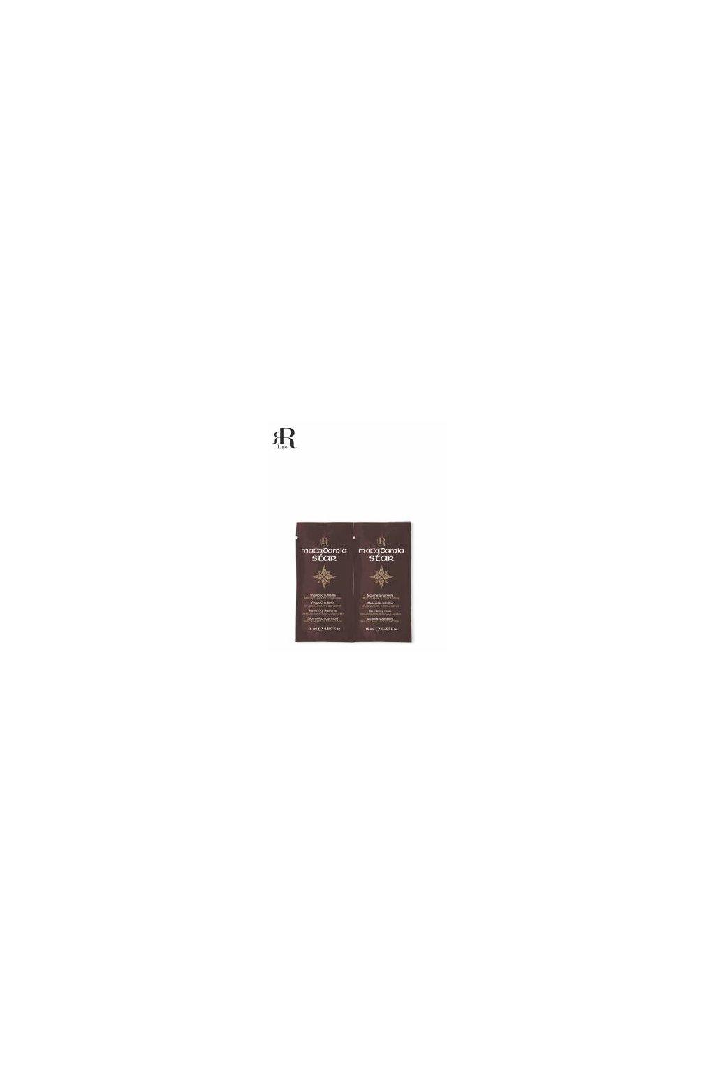 9236 rr line macadamia star sampon a maska vyzivujici namahane vlasy 2x15ml