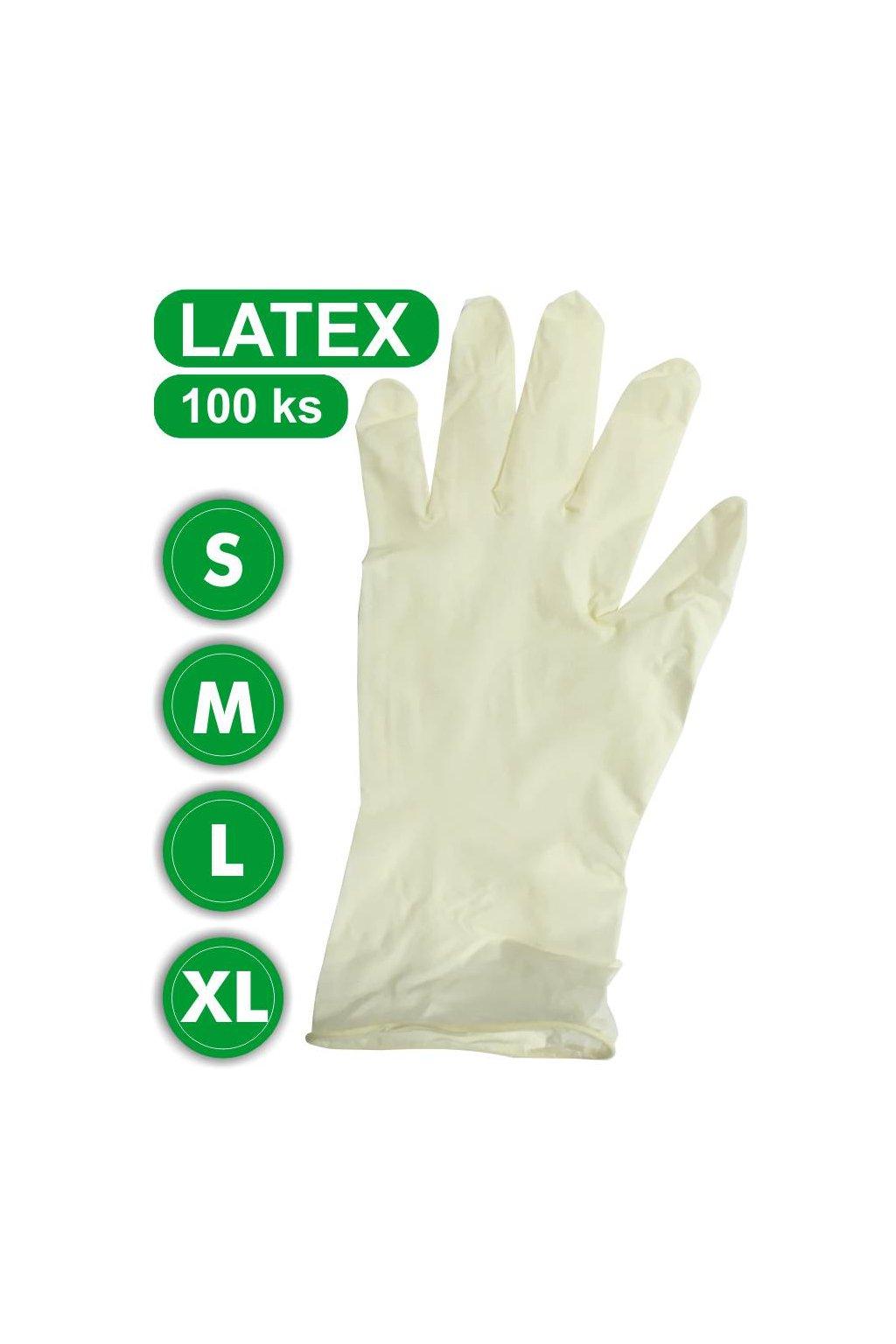 rukavice latex s m l xl