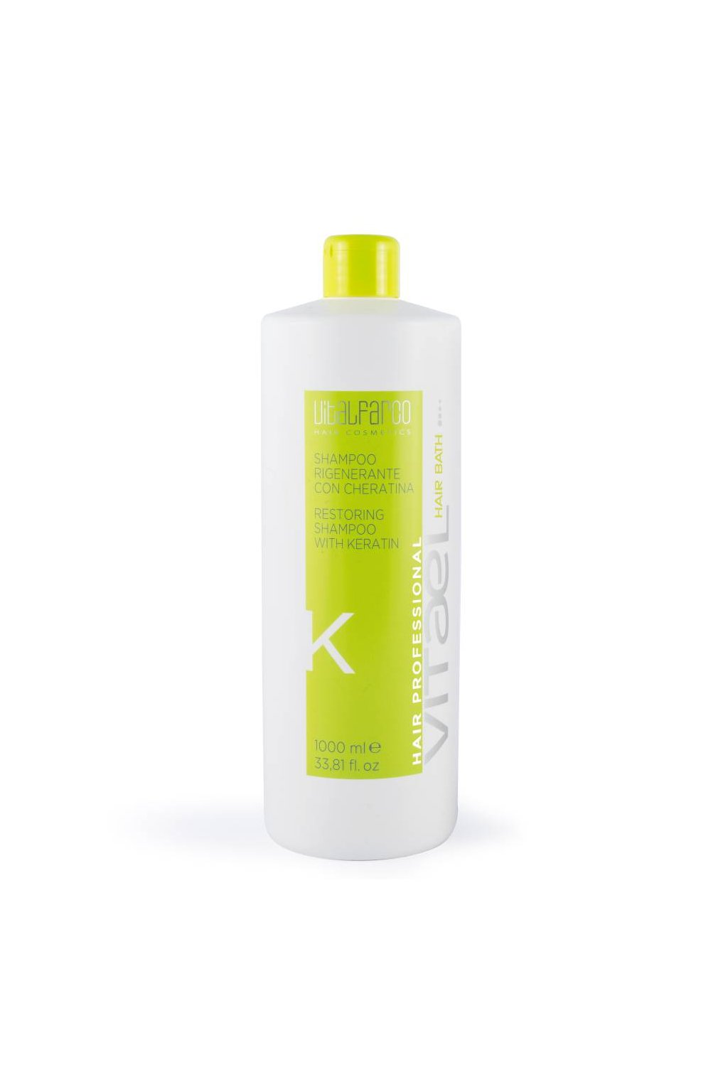 10976 vitael keratin sampon k regeneracni pro suche barvene a poskozene vlasy 1000ml