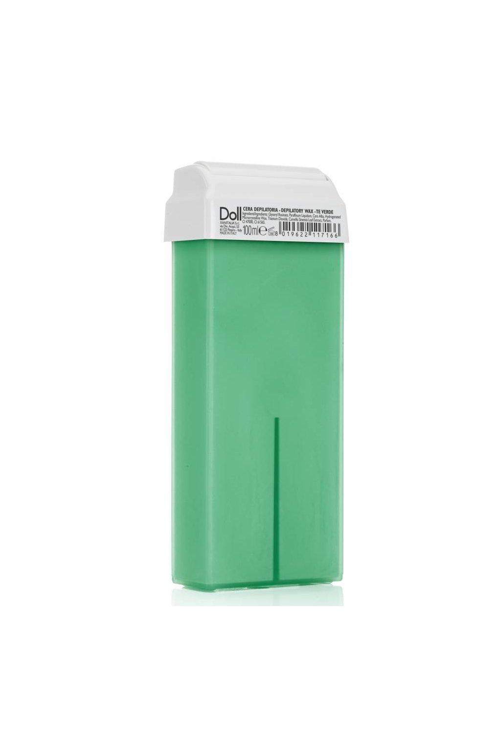 8108 xanitalia epilacni vosk zeleny caj s rostlinnymi oleji s roll on hlavici 100ml