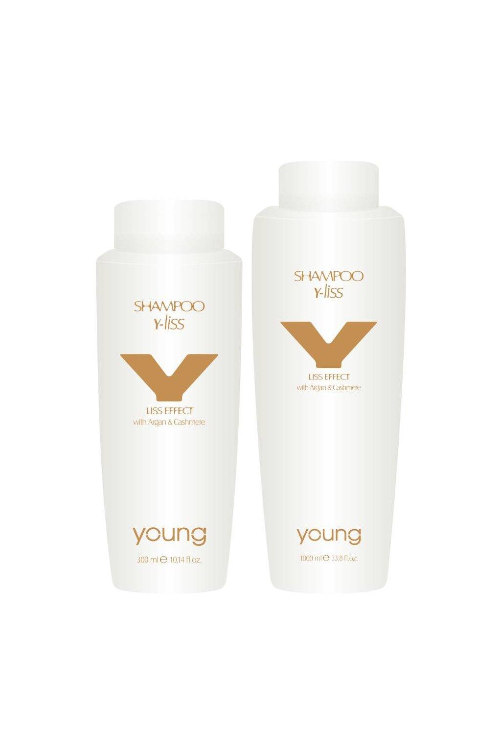 Young Y-LISS Šampon revitalizační pro hladké vlasy, argan a kašmír (Obsah 300 ml)