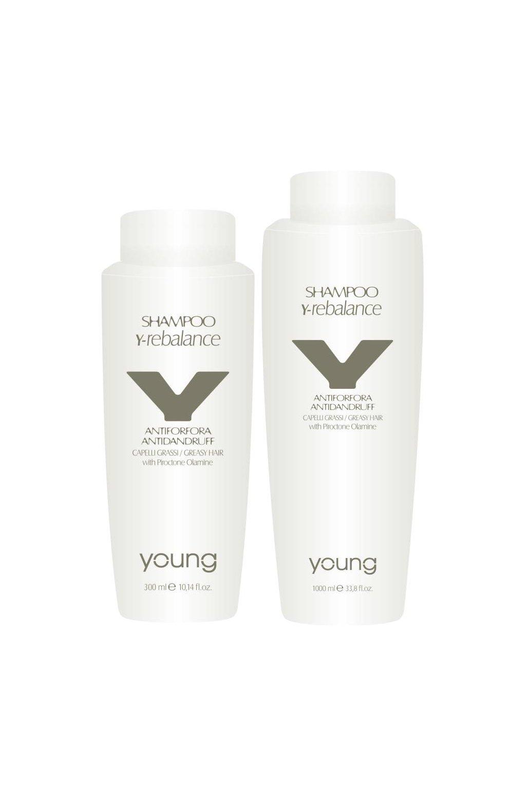 Young Y-REBALANCE Šampon proti lupům a pro normalizaci pokožky s Piroctone Olamine (Obsah 300 ml)