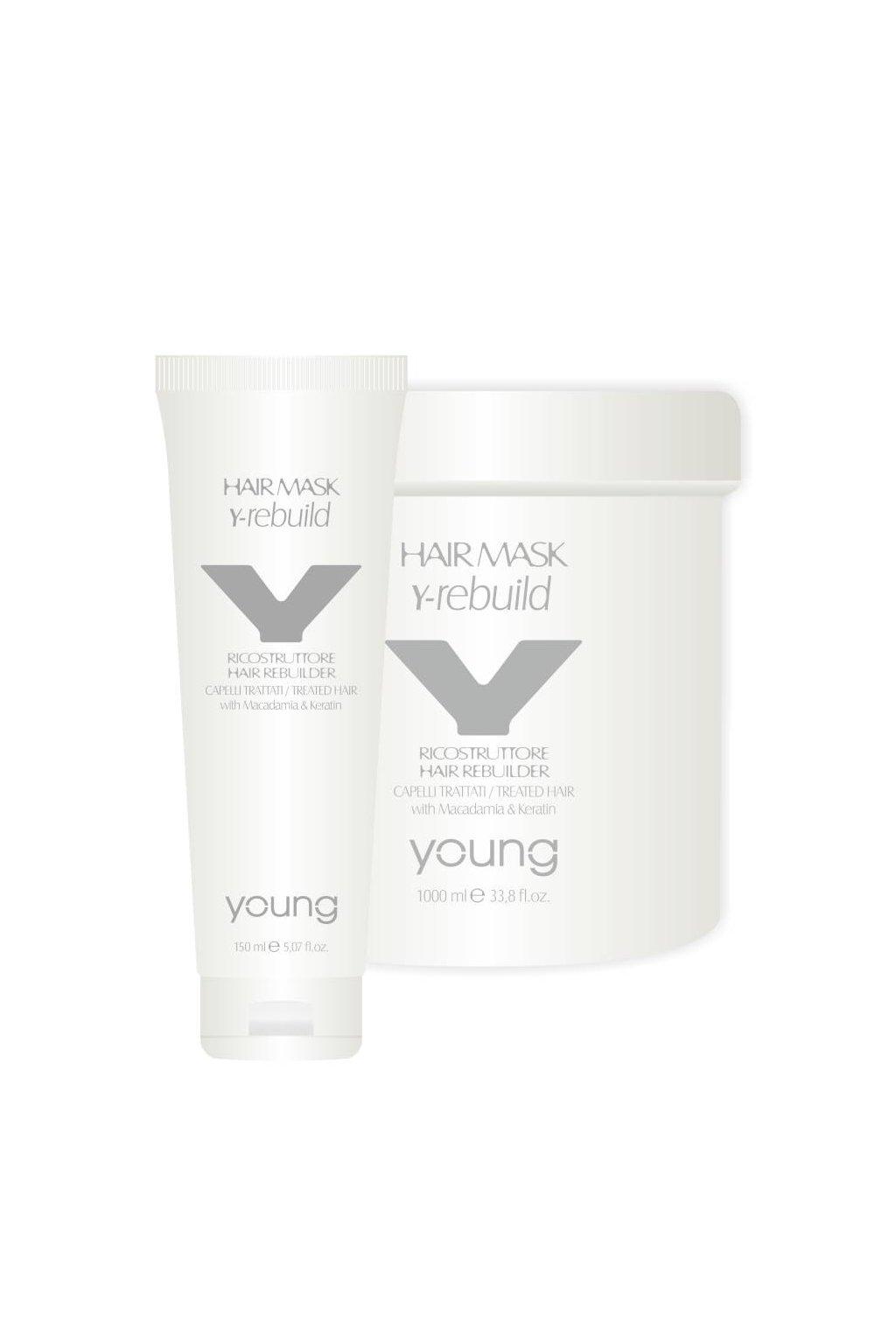 Young Y-REBUILD Maska obnovující s makadamiovým olejem a keratinem (Obsah 150 ml)