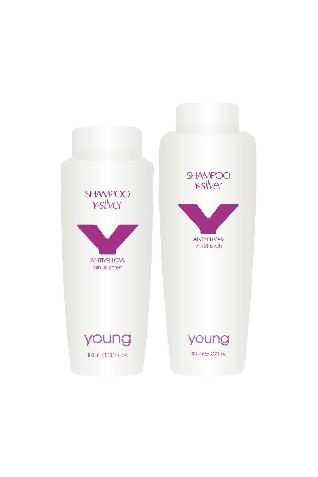 Young Y-SILVER Šampon pro neutralizaci žlutých tónů a oživení barvy (Obsah 300 ml)