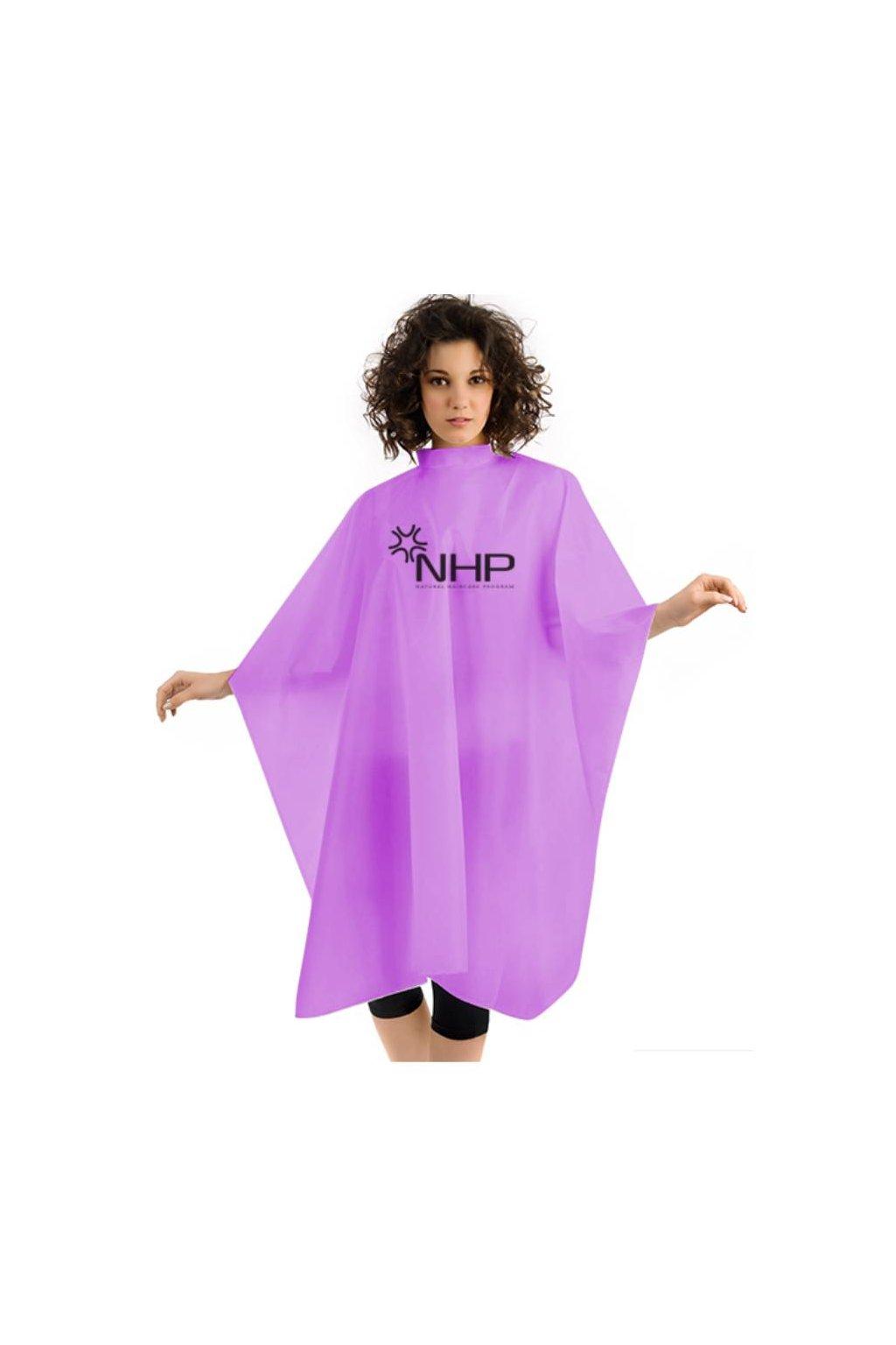 Kadeřnický plášť NHP na stříhání fialový na cvočky