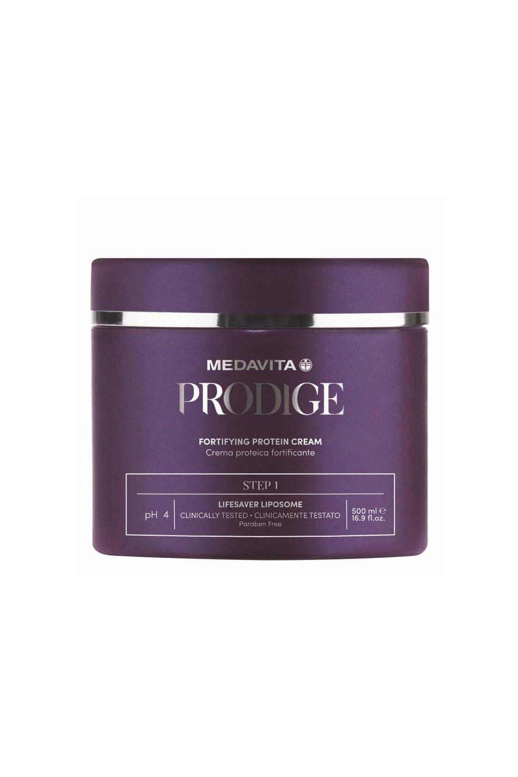 Medavita PRODIGE Proteinový krém pro zpevnění vlasů KROK 1, 500ml