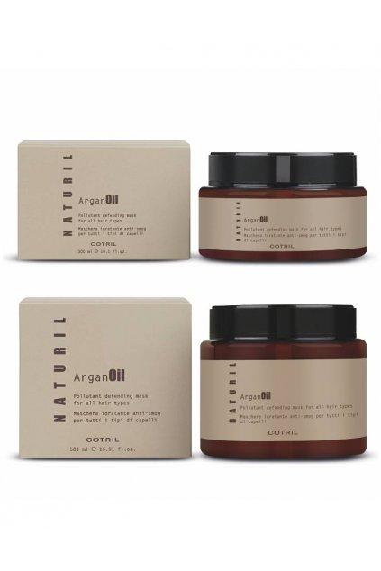 Cotril NATURIL ARGAN Maska hloubková hydratace pro všechny typy vlasů (Obsah 300 ml)