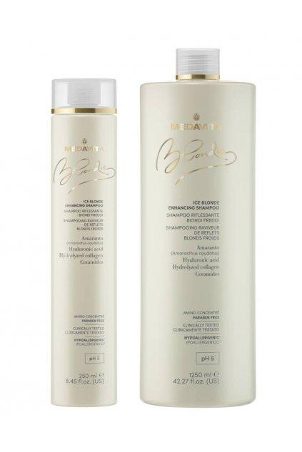 Medavita BLONDIE ICE Šampon s pigmenty pro studené blond odstíny (Obsah 250 ml)