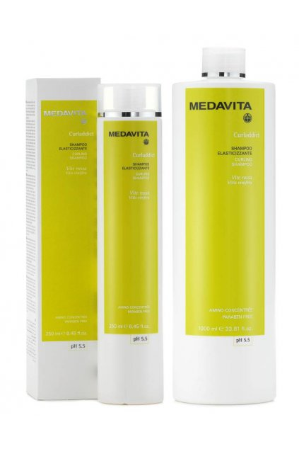 Medavita CURLADDICT Šampon pro kudrnaté a husté vlasy s výtažky vinné révy (Obsah 250 ml)