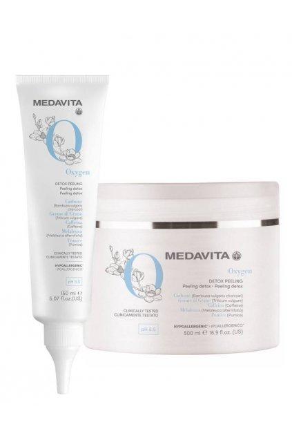 Medavita DETOX Detoxikační peeling pro vlasy a pokožku s bambusovým uhlím (Obsah 150 ml)
