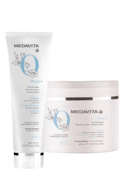 Medavita DETOX Maska detoxikační pro výživu a elasticitu s bambusovým uhlím
