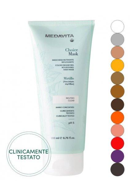 Medavita CHOICE barvící maska, zvýrazňuje přírodní i kosmetickou barvu 200ml