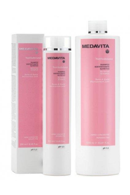 Medavita NUTRISUBSTANCE Šampon hloubkově vyživující s Karité a gumu Guar (Obsah 250 ml)