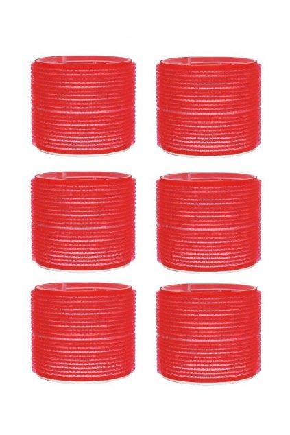 Natáčky suchý zip průměr 70mm červené Xanitalia