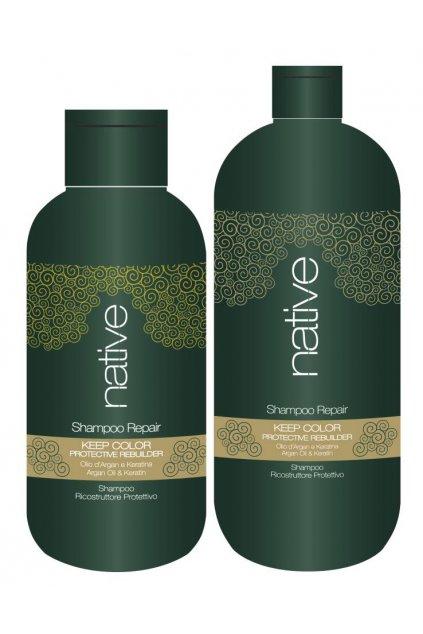 Native Šampon hloubkově obnovující s arganovým olejem a keratinem (Obsah 250 ml)