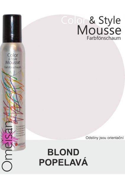 6485 omeisan barevna pena tuzici aschblond 200ml blond popelava
