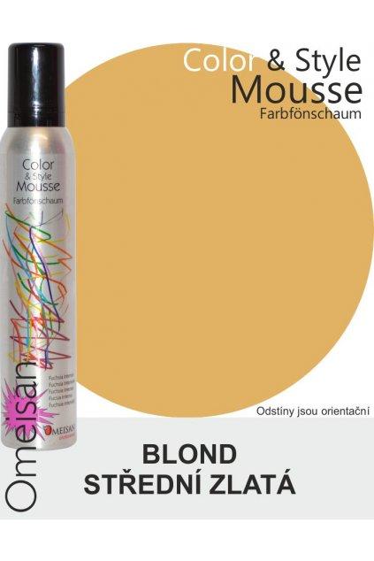 6479 omeisan barevna pena tuzici mittelgoldblond 200ml blond stredni zlata