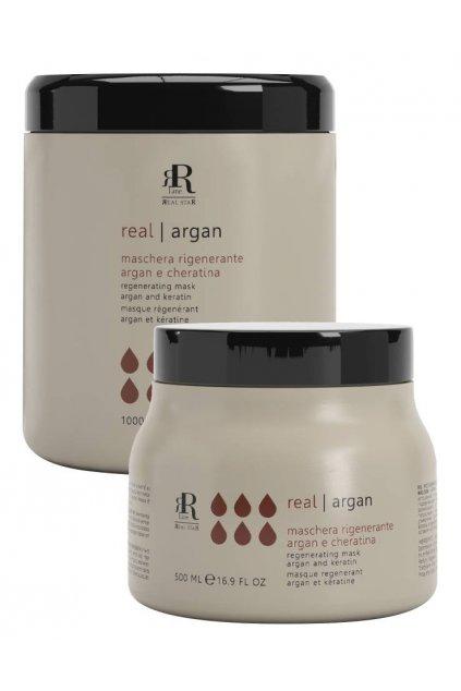 RR Line ARGAN STAR Maska regenerační pro kudrnaté a chemicky ošetřované vlasy (Obsah 500 ml)