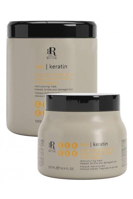 RR Line KERATIN STAR Maska obnovující namáhané, oslabené a zničené vlasy (Obsah 500 ml)