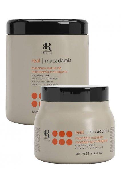 RR Line MACADAMIA STAR Maska vyživující namáhané a matné vlasy (Obsah 500 ml)