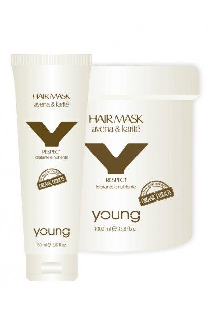 Young Organic RESPECT Maska hloubkově hydratační a vyživující suché a matné vlasy (Obsah 150 ml)