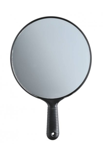 6791 zrcadlo jednostranne cerne kulate s ruckou prumer 19 5cm
