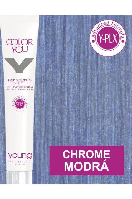 Young Y-PLX Barva Chrome Metallic Blue modrá