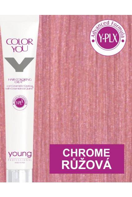 Young Y-PLX Barva Chrome Metallic Pink růžová