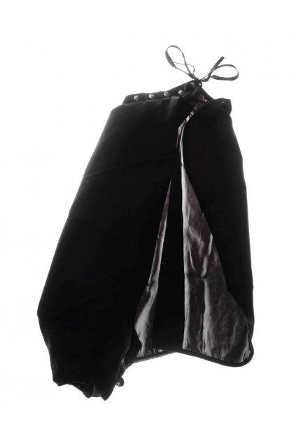 Kadeřnický plášť Medavita na stříhání černý na šňůrky a cvočky
