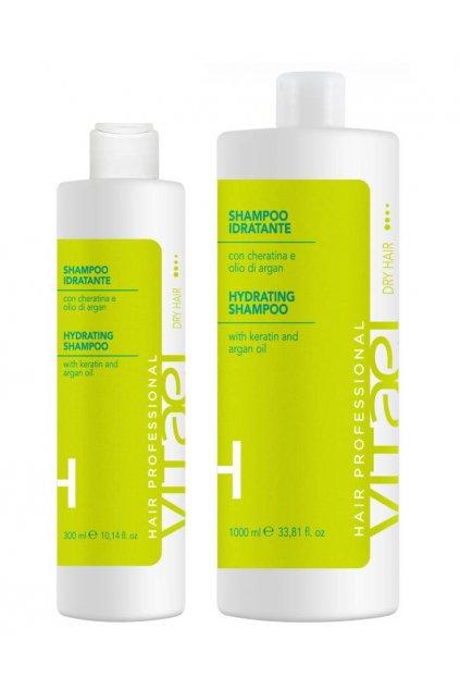Vitael DRY Šampon hydratační s keratinem a arganovým olejem pro namáhané suché vlasy