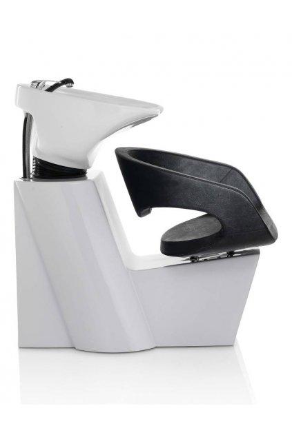 Mycí BOX WAVE keramika bílá, koženka černá