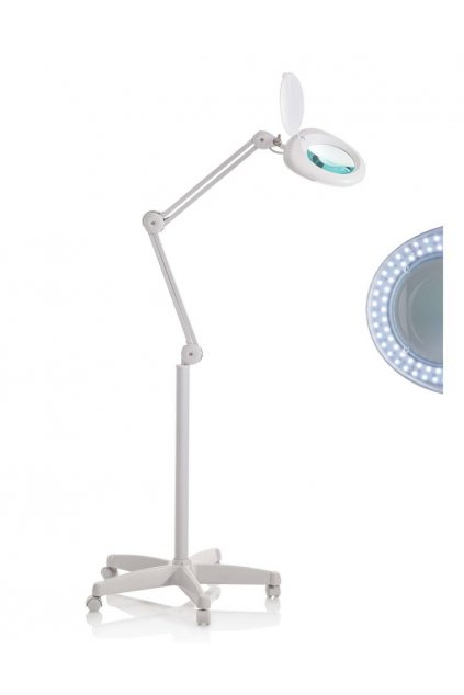 Kosmetická lampa 5D LED LIGHT s lupou 5 dioptrií se stojanem