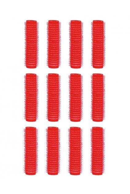 Natáčky suchý zip průměr 13mm červené tmavé malé Xan 12ks