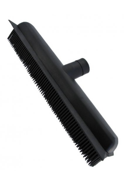 Antistatický gumový smeták Premium černý 7x33cm s vodní stěrkou