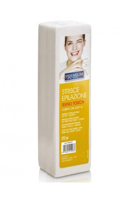 Kosmetické epilační pásky PREMIUM Tekno Touch 7x22cm 1bal./250ks