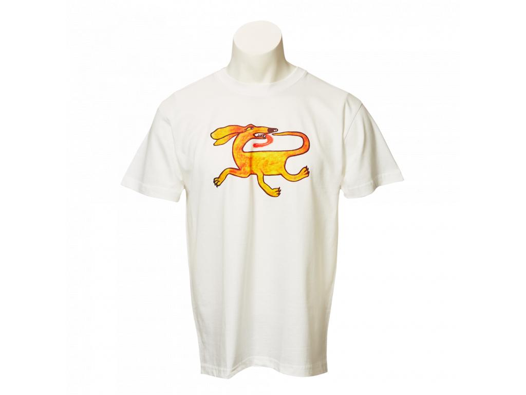 Bílé tričko Třínohý pes - pánské