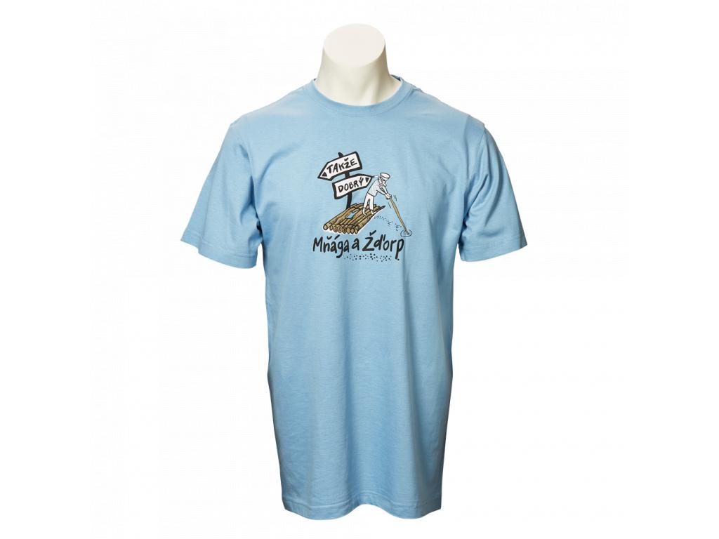 Modré tričko Takže dobrý - pánské