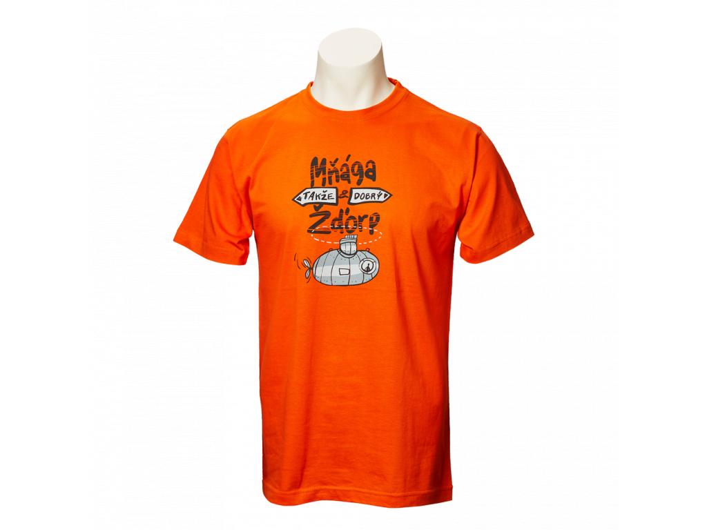 Oranžové tričko Takže dobrý - pánské