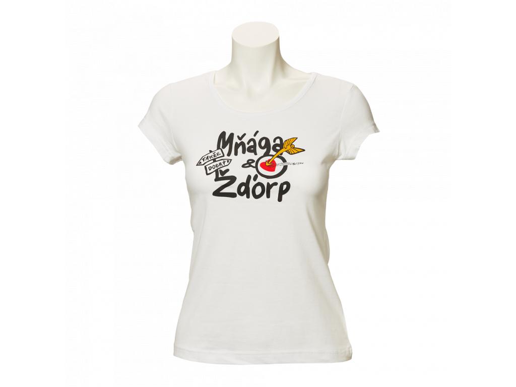 Bílé tričko Takže dobrý - dámské