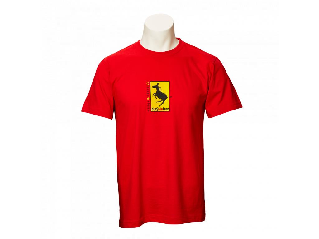 Červené tričko Dutý, ale free - pánské