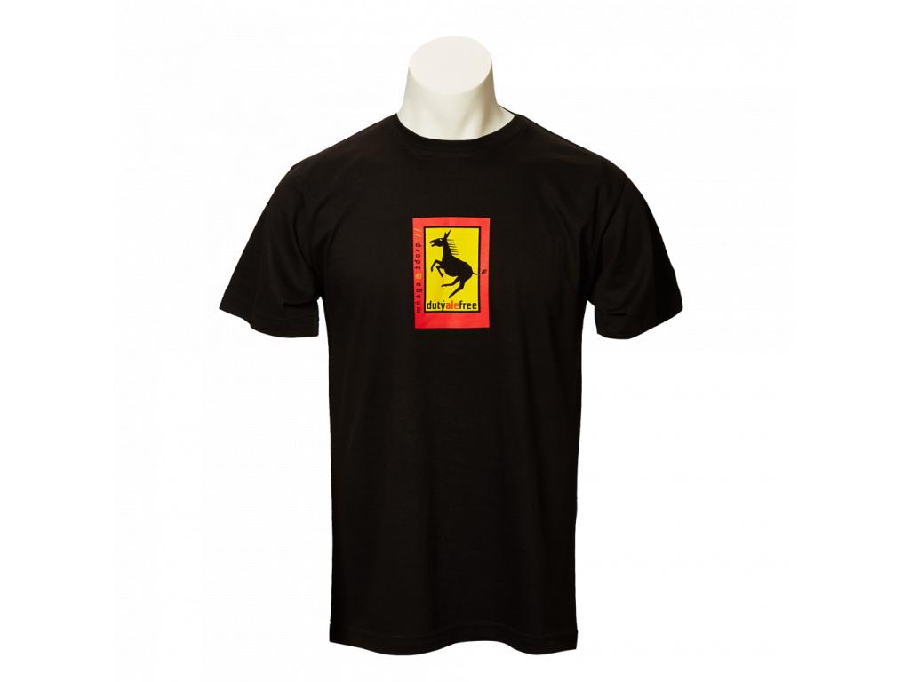 Černé tričko Dutý, ale free - pánské