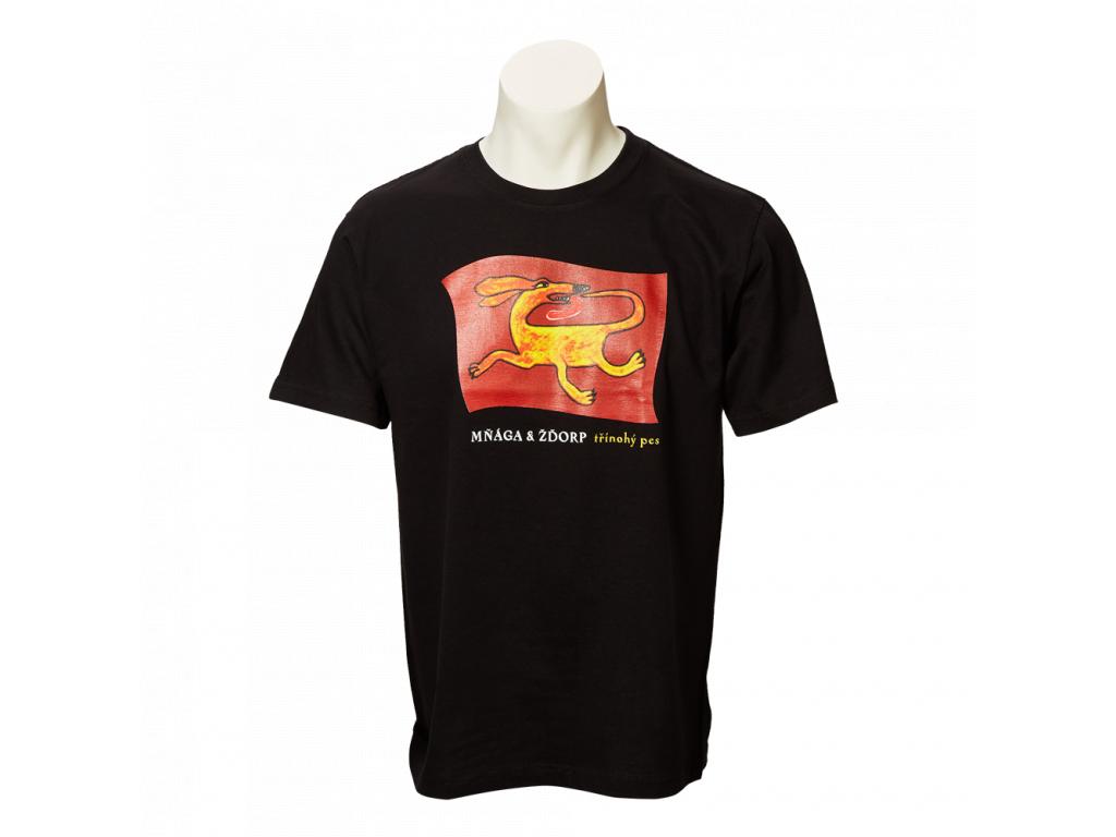 Černé tričko Třínohý pes - pánské
