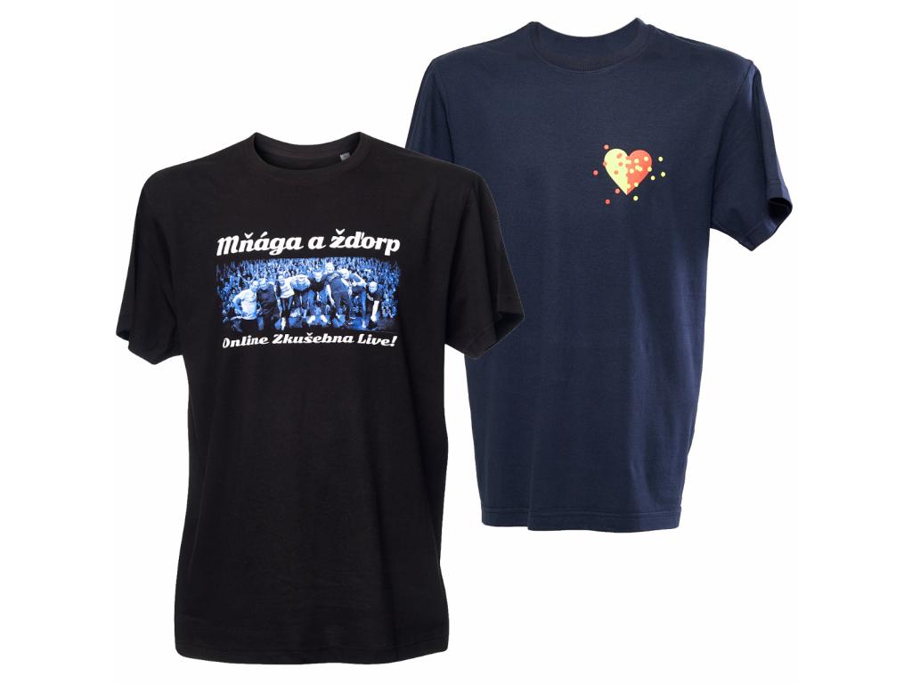 komplet pánských triček Zkušebna Live + Třecí plochy