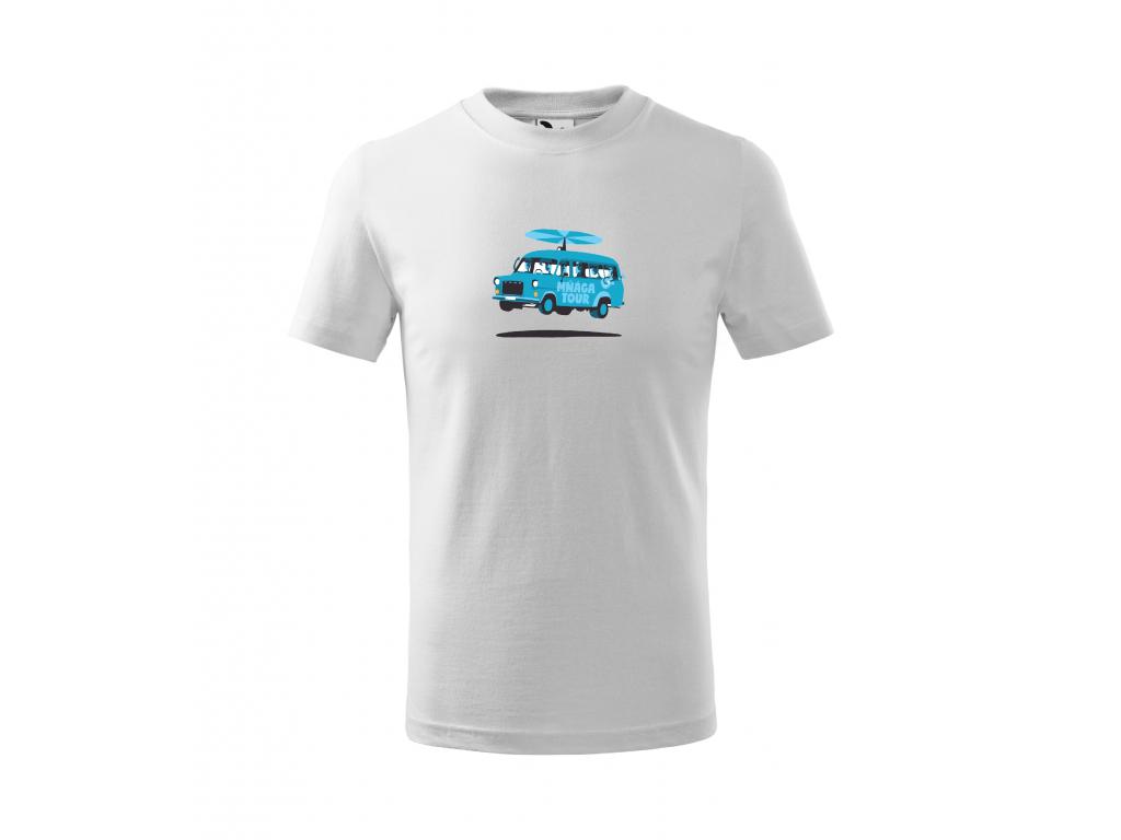 2. DODÁVKA bílé triko 4 12 let modrý motiv