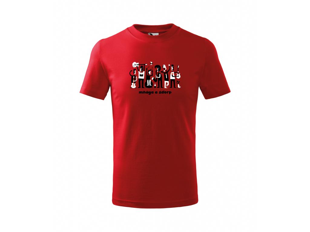 7. KAPELA červené triko 4 12 let