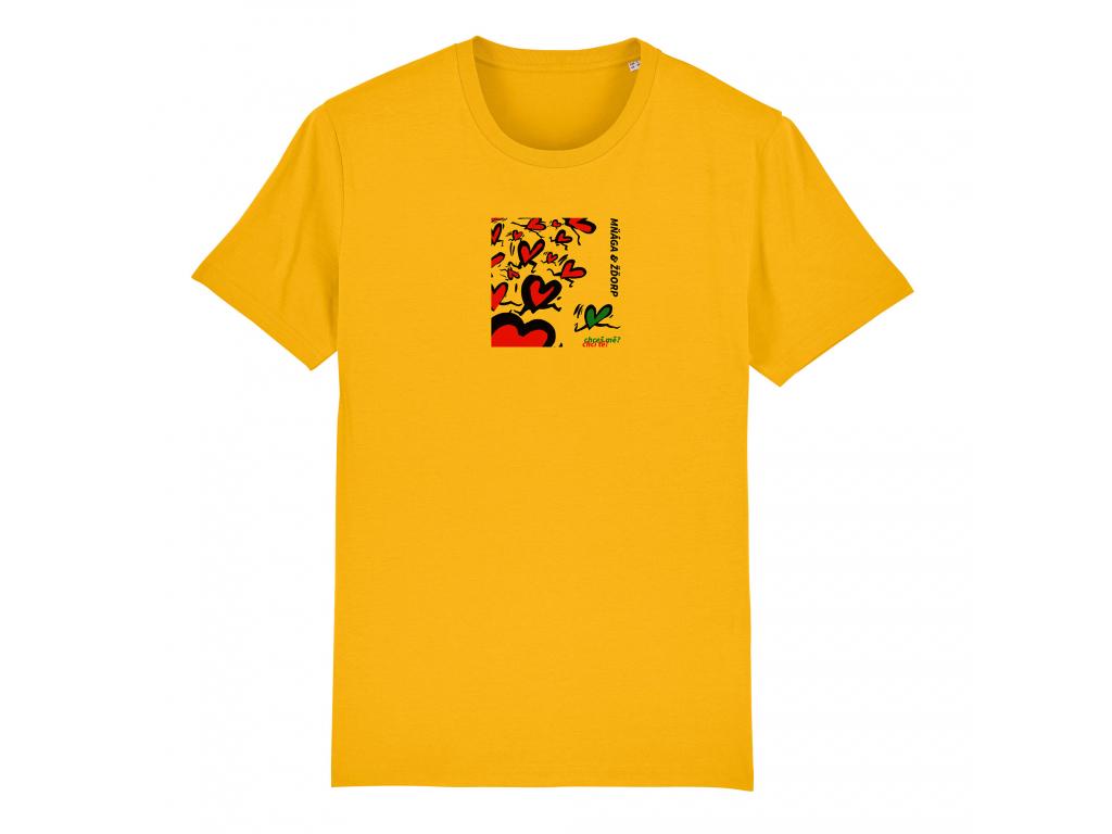 chces me panske + detske zlute triko